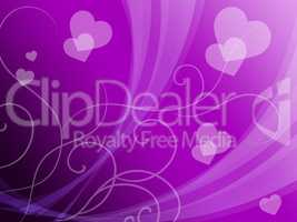 Elegant Hearts Background Means Delicate Passion Or Fine Wedding