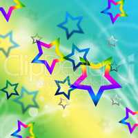 Beach Stars Background Means Shining In Sky.