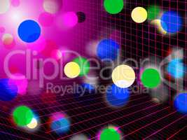 Pink Bubbles Background Shows Circles Grid And Shining.