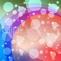 Bubbles And Arcs Background Means Dots And Curves.