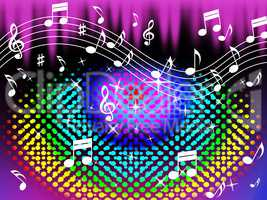 Colorful Music Background Means Harmony And Song.