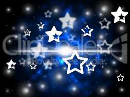 Stars Background Shows Astronomy And Night Sky.