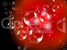 Abstract Bubbles Background Means Creative Soapy Bubbles.