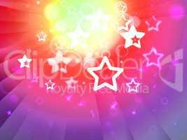 Stars Background Shows Shining Stars Or Glittery Design.
