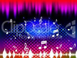 Music Background Means Singing Dancing Or Melody.