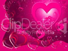 Hearts Background Shows Loving Affection And Romance.