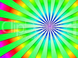 Colourful Dizzy Striped Tunnel Background Shows Futuristic Dizzy