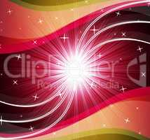 Star Background Shows Bright Stars And Ripples.
