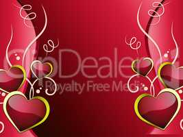 Hearts Background Shows Affection  Attraction And Passion.