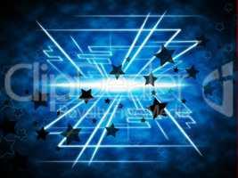 Stars Brightness Background Means Night Beams And Geometrical Li