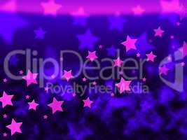 Purple Stars Background Shows Celestial Light And Starry.