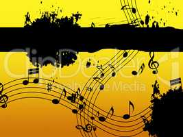Music Background Means Black Line Classical And Harmony.