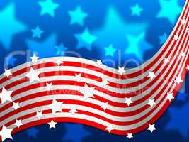 American Flag Background Shows America Stars And Nation.