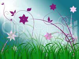 Elegant Floral Background Means Spring Season Or Botanical Decor