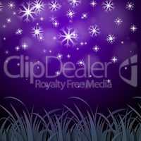 Snowflakes Purple Background Shows Wintertime Wallpaper Or Ice P