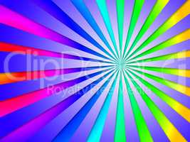 Colourful Dizzy Striped Tunnel Background Means Dizzy Abstractio