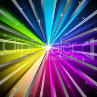 Colorful Rays Background Means Shining Colors And Sparkles.