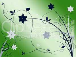 Elegant Floral Background Shows Beautiful Nature Season.