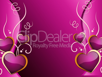 Hearts Background Means Romance  Attraction And Wedding.