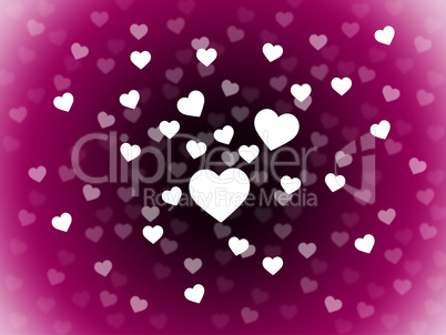 Bunch Of Hearts Background Means Attraction  Affection And In Lo