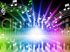 Music Colors Background Means Songs Singing And Musical.