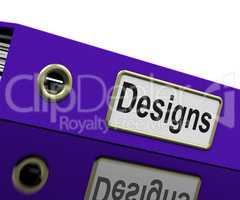 Designs File Represents Concept Conception And Designed
