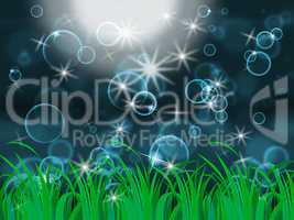 Glow Bubbles Represents Light Burst And Dazzling