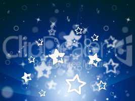 Stars Glow Means Light Burst And Design