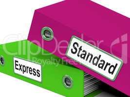Standard Express Shows Deliver Delivery And Parcel