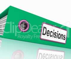 File Decisions Represents Binder Business And Folders