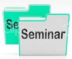 Files Seminar Indicates Workshop Folder And Organize