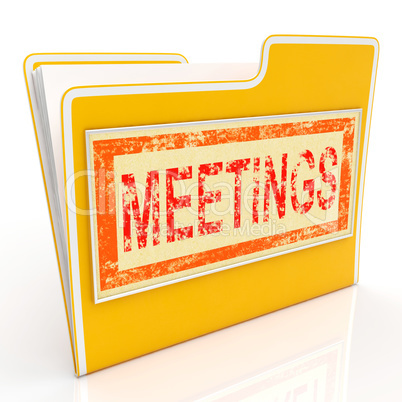 Meetings File Means Agm Document And Paperwork