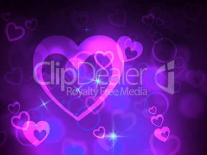 Bokeh Heart Indicates Valentine Day And Abstract