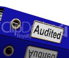 Audited Audit Indicates Auditor Verification And Binder