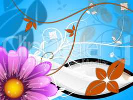 Floral Background Indicates Bloom Petals And Backdrop