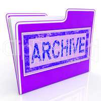Archive File Indicates Organized Folders And Document