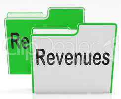 Revenues Files Indicates Profits Dividends And Paperwork