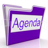 Agenda File Represents Folders Correspondence And Plan