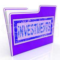 File Investments Shows Investing Investor And Invested