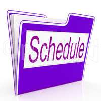 File Schedule Means Plan Files And Business