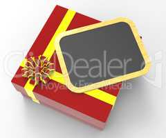 Gift Tag Indicates Blank Space And Copy-Space