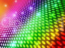 Background Circles Indicates Multicolored Backdrop And Spectrum