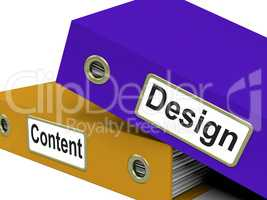 Designs Files Represents Designed Organized And Creations