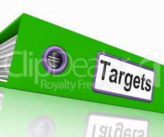 Targets File Represents Aiming Folder And Document