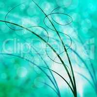 Green Swirl Represents Twirling Twirl And Field