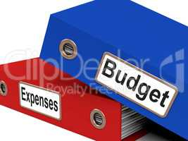 Files Budget Indicates Correspondence Paperwork And Financial