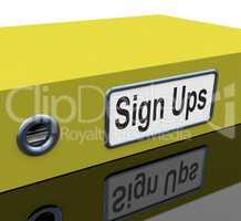 Sign Ups Shows Paperwork Membership And Folders