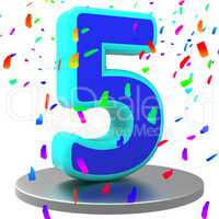 Fifth Five Represents Birthday Party And 5