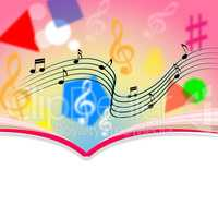 Copyspace Notes Means Music Sheet And Melody