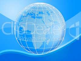 Background Globe Means Globally Globalise And Design